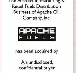 Case Study: Matrix Announces the Successful Sale of Apache Oil Company, Inc.